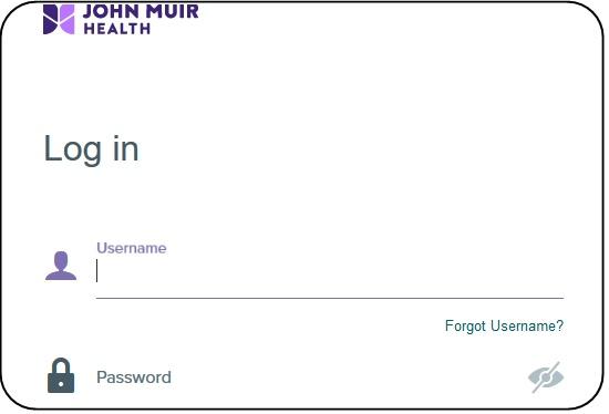 My John Muir Health login page