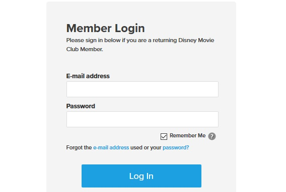 Disney Movie Club Sign In