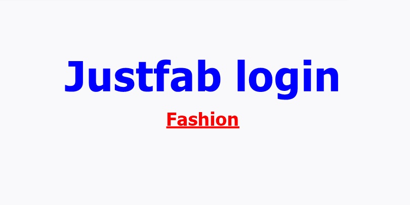 Justfab login account