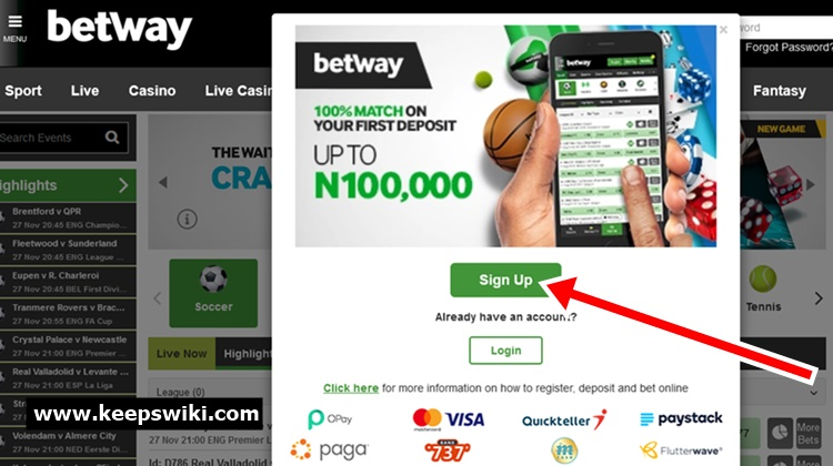 How To Create Betway Account