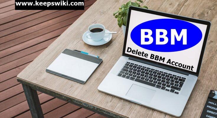 how to delete BBM account