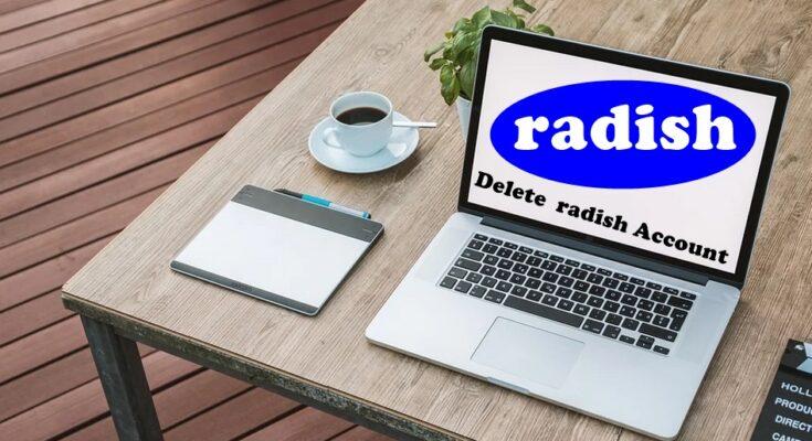 how to delete radish account